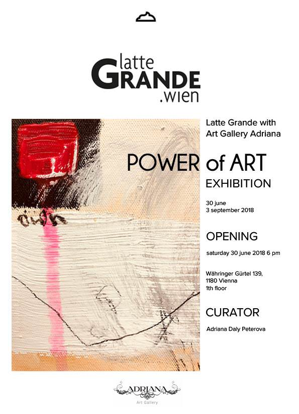 Latte Grande + Art Gallery Adriana