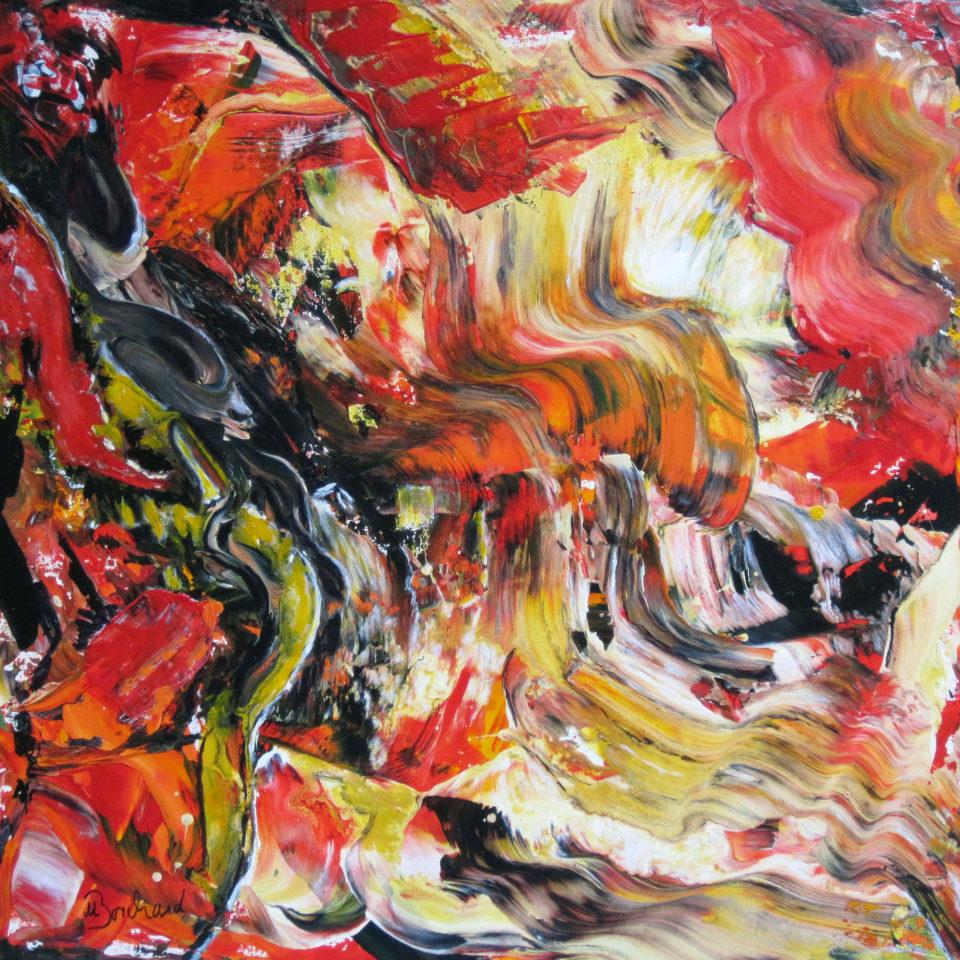 Wellig, Acryl, 100 x 100 cm