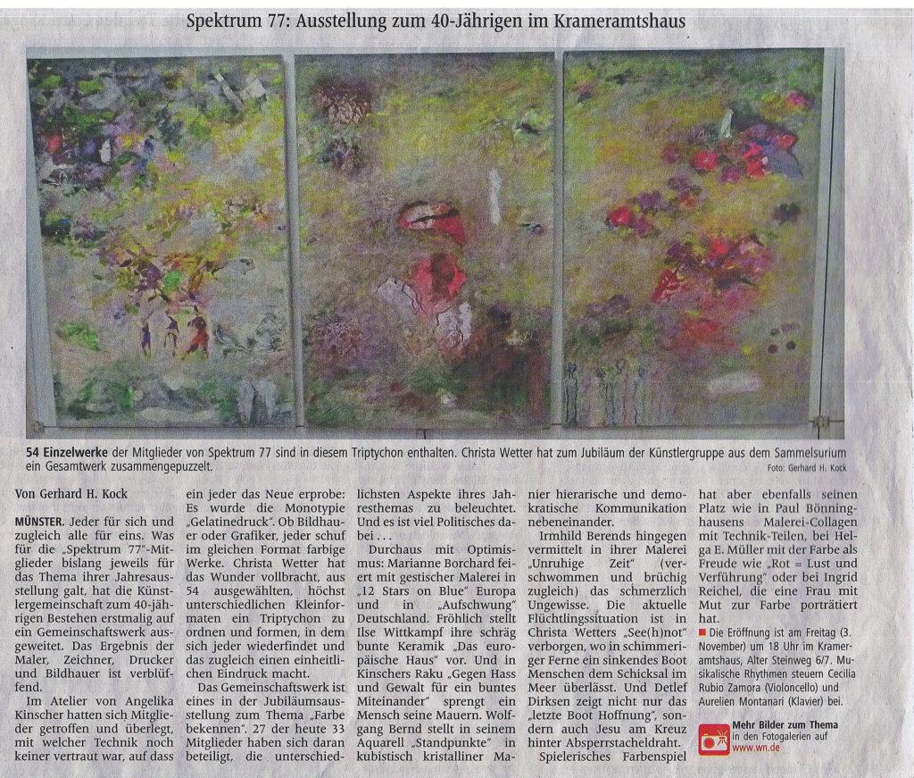 Westfälische Nachrichten 3. November 2017