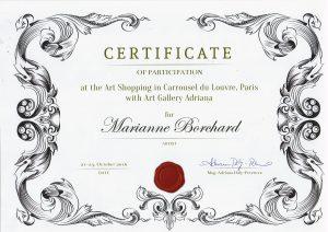 Zertifikat Art Louvre
